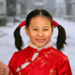 A portrait of a Chinese girl (6-7 years) — Stock Photo #34856519