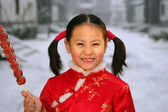 A portrait of a Chinese girl (6-7 years) — Stock Photo