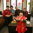 A shot of Chinese family reunion in the house — Stock Photo #34866899