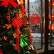 A shot of Christmas Tree in house  — Foto de Stock
