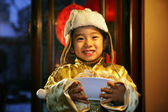 A shot of Oriental Child in Festival — Stock Photo