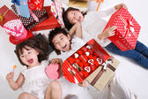 Children lying together — Stock Photo