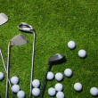 Golf clubs and balls — Stock Photo #37175423