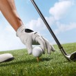 Placing golf ball on tee — Stock Photo #37175613