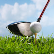 Stock Photo: Golf club and ball
