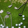 Golf clubs and balls — Stock Photo #37179111