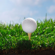 Golf ball on tee — Stock Photo #37180721