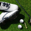 Stock Photo: Golf clubs