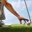 Placing golf ball on tee — Stock Photo #37182359