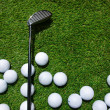 Golf club and  balls — Stock Photo