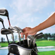 Removing golf club from bag — Stock Photo #37187375