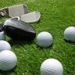 Golf clubs and balls — Stock Photo