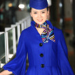 Chinese flight attendant — Stock Photo