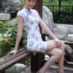 Young woman wearing cheongsam — Stock Photo #37482469