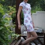 Young woman wearing cheongsam — Stock Photo #37482501