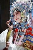 Beijing Opera Actress Using Phone,China — Foto de Stock