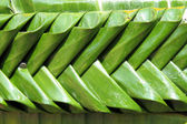 Texture of banana leaf handmade in Kratong festival, Thailand — Stock Photo