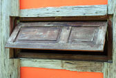 Old wood window , horizontal line — 图库照片
