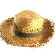 Straw hat on white background — Stock Photo #26390891