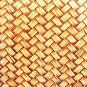 Seamless woven wicker background — Stock Photo