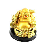Gold smile buddha — Stockfoto