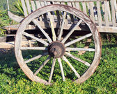 Old wooden wheel of Thais classic vehicles — Photo