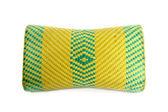 Travesseiro de vime tecida isolado no travesseiro branco, tailandês vime tecida — Fotografia Stock