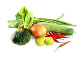 Vegetables mix on white background — Stock Photo