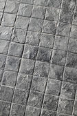 Black tile road texture — Stock Photo