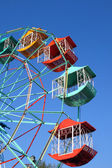 Ferris wheel Player of the fun kids with blue sky — Stock Photo