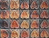Ancient decorative tiles in the east, Thailand — Stock Photo