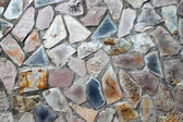 Parede de alvenaria com pedras irregulares em forma — Foto Stock