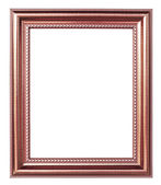 Copper picture frame on white background — Stock Photo