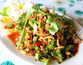 Winged bean salad, food of thailand — Stock Photo