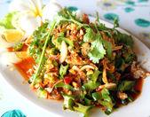 Winged bean salad, food of thailand — Stock Photo