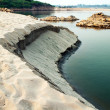 Sand of the Mekong River take from  Kaeng Kood Koo of Chiangkhan — Stock Photo
