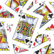 Jack, Queen, King Playing cards Background — Stock Photo