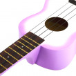 Ukulele guitar on white background — Stock Photo
