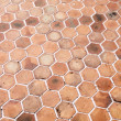 Hexagon walkway background - Stock Photo