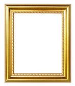 Goldene Bilderrahmen auf weißem Hintergrund — Stockfoto