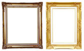 2 ancient golden frame on white — Stock Photo