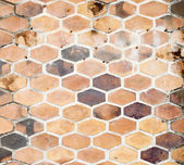 The background image of hexagonal clay tiles — Stock Photo