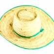 Straw hat on white background — Stock Photo