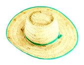 Straw hat on white background — Stock Photo