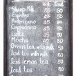 Stock Photo: Sheep coffee menu on blackboard
