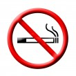 No smoking sign on white — Stock Photo #26503991