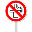No smoking and no alcohol sign on white background — Stock Photo