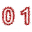 Red tinsel forming 2013 year number — Foto Stock