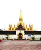 Golden pagada in Pha-That Luang temple, Vientiane, Travel in Lao — Foto de Stock