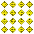 Stock Photo: 16 height limitation traffic sign